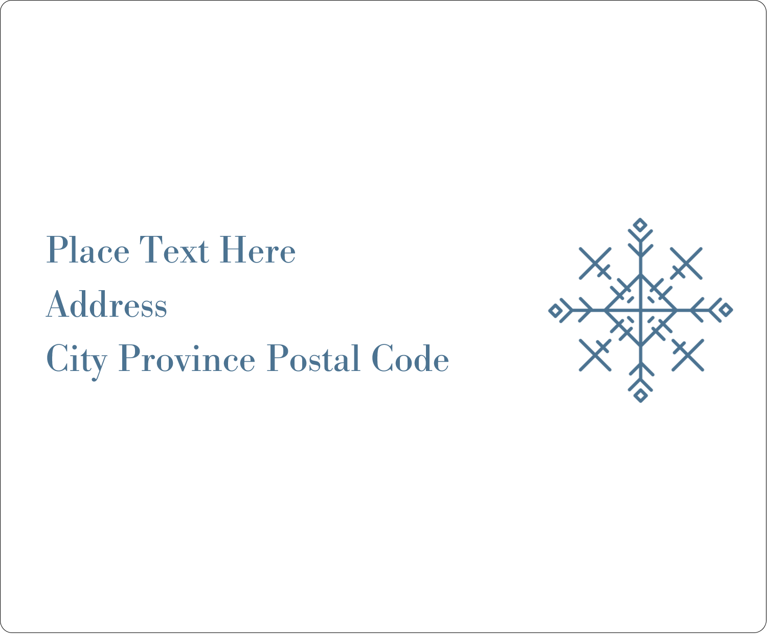 "4"" x 3⅓"" Shipping Label - Snowflakes"