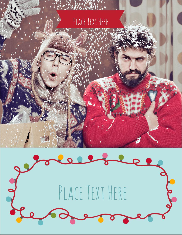 """5½"""" x 4¼"""" Postcard - Holiday Lights"""