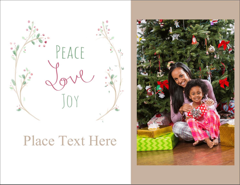 "5½"" x 4¼"" Postcard - Peace Love Joy"