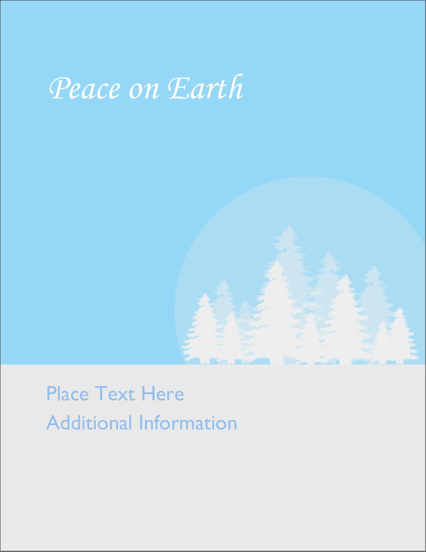 "4¼"" x 5½"" Postcard - Blue Forest"