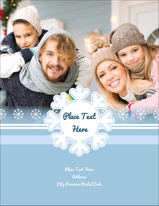 """4¼"""" x 5½"""" Postcard - Blue Snowflake"""