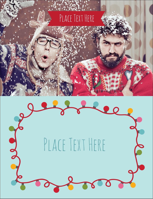 """4¼"""" x 5½"""" Postcard - Holiday Lights"""