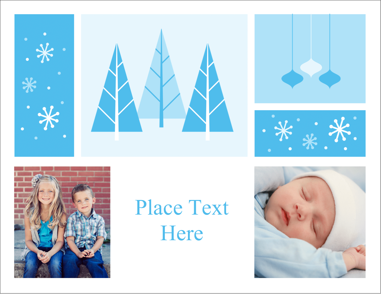 "4¼"" x 5½"" Postcard - Retro Winter Wonderland"