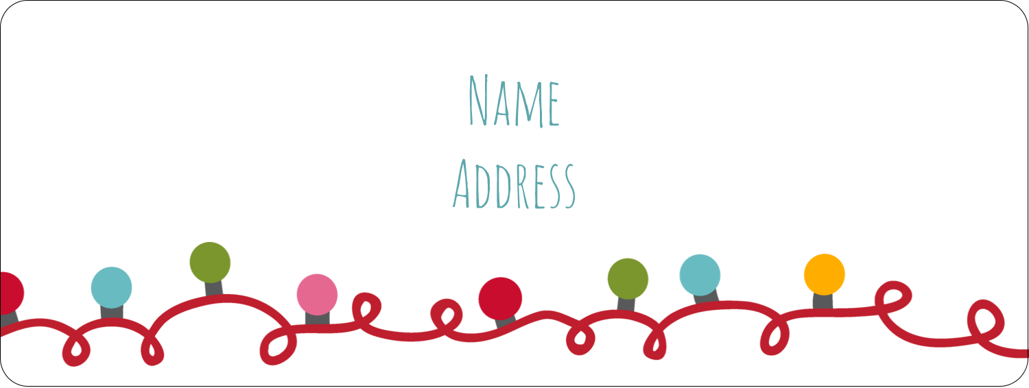 "⅔"" x 1¾"" Address Label - Holiday Lights"