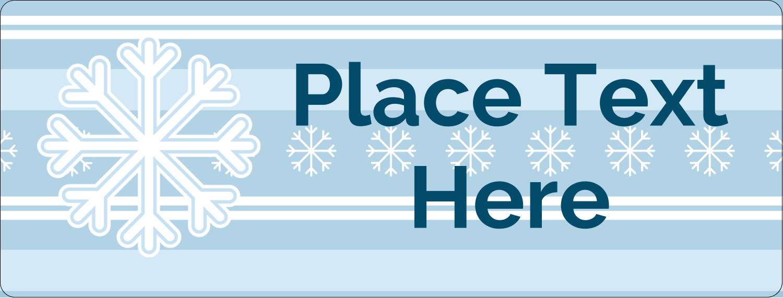 "½"" x 1¾"" Address Label - Blue Snowflake"