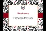 Fleurs de Noël Carte Postale - gabarit prédéfini. <br/>Utilisez notre logiciel Avery Design & Print Online pour personnaliser facilement la conception.