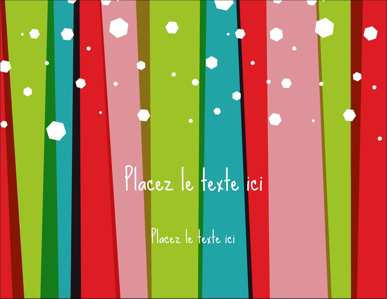 """4¼"""" X 5½"""" Carte Postale - Rayures de Noël rétro"""