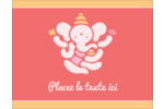 Ganesh Divali  Carte Postale - gabarit prédéfini. <br/>Utilisez notre logiciel Avery Design & Print Online pour personnaliser facilement la conception.