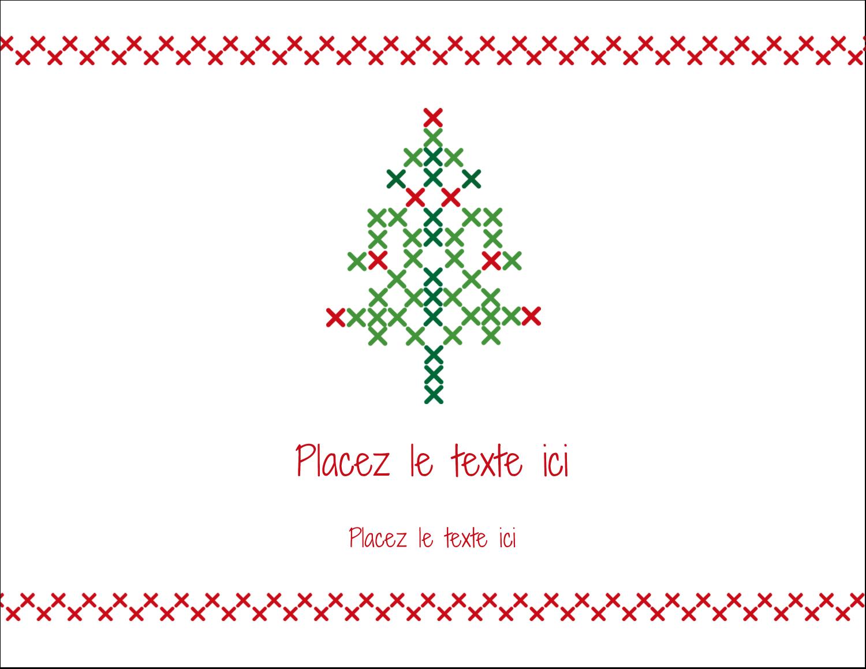 """4¼"""" X 5½"""" Carte Postale - Sapin en point de croix"""