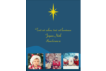 Étoile de Bethléem Carte Postale - gabarit prédéfini. <br/>Utilisez notre logiciel Avery Design & Print Online pour personnaliser facilement la conception.