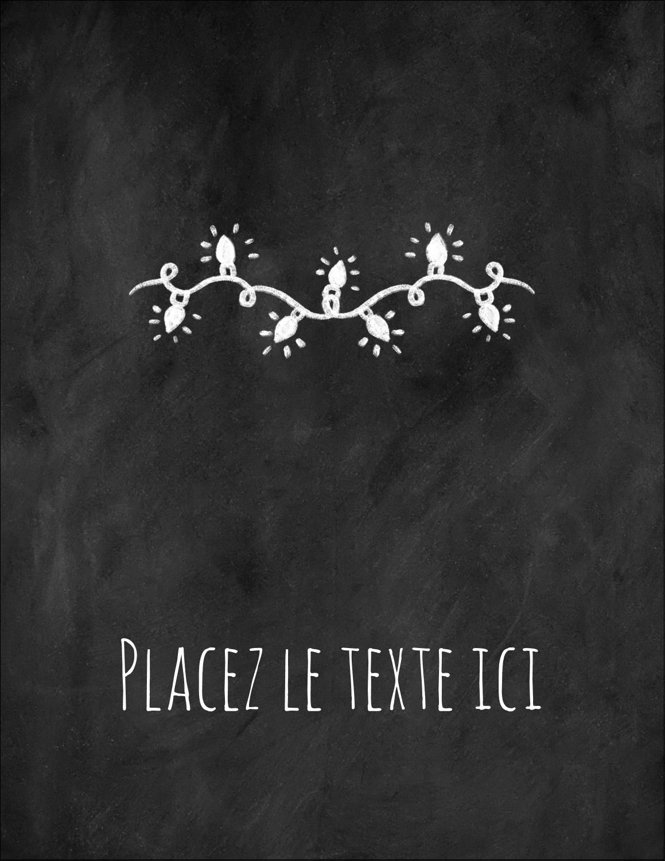 """5½"""" x 4¼"""" Carte Postale - Lumières sur tableau noir"""