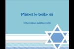 Étoile de Hanoukka Carte Postale - gabarit prédéfini. <br/>Utilisez notre logiciel Avery Design & Print Online pour personnaliser facilement la conception.