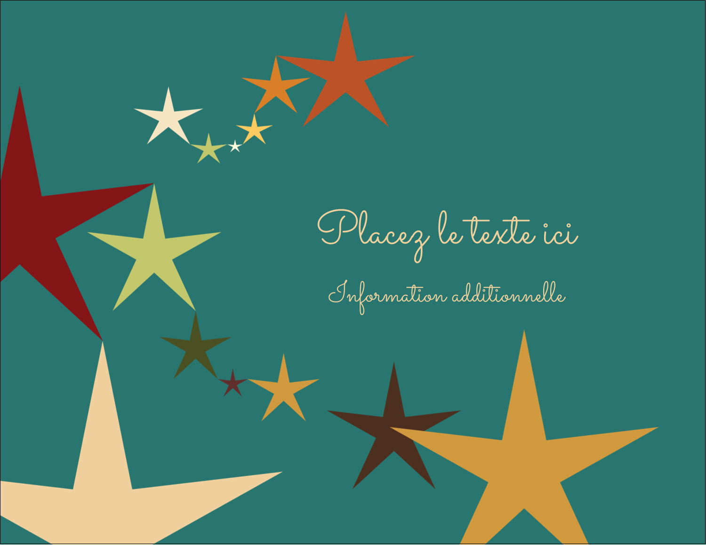 """4¼"""" X 5½"""" Carte Postale - Étoiles du Nouvel An"""