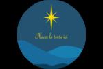 Étoile de Bethléem Étiquettes rondes - gabarit prédéfini. <br/>Utilisez notre logiciel Avery Design & Print Online pour personnaliser facilement la conception.