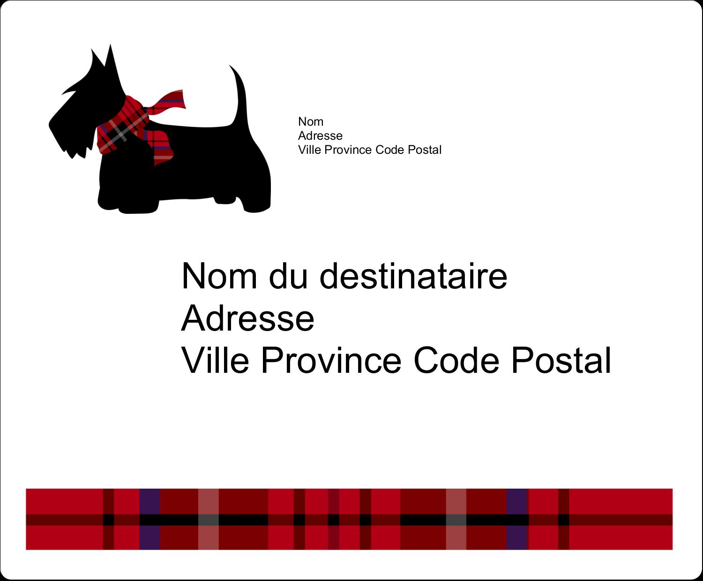 """3⅓"""" x 4"""" Étiquettes d'expédition - Terrier écossais"""