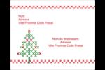 Sapin en point de croix Étiquettes d'expédition - gabarit prédéfini. <br/>Utilisez notre logiciel Avery Design & Print Online pour personnaliser facilement la conception.