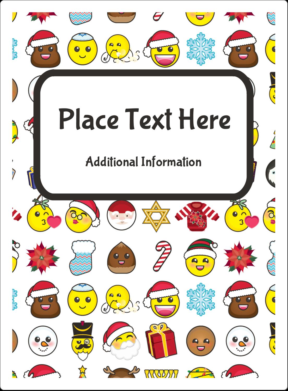 """4¾"""" x 3½"""" Rectangular Label - Emoji Holiday"""