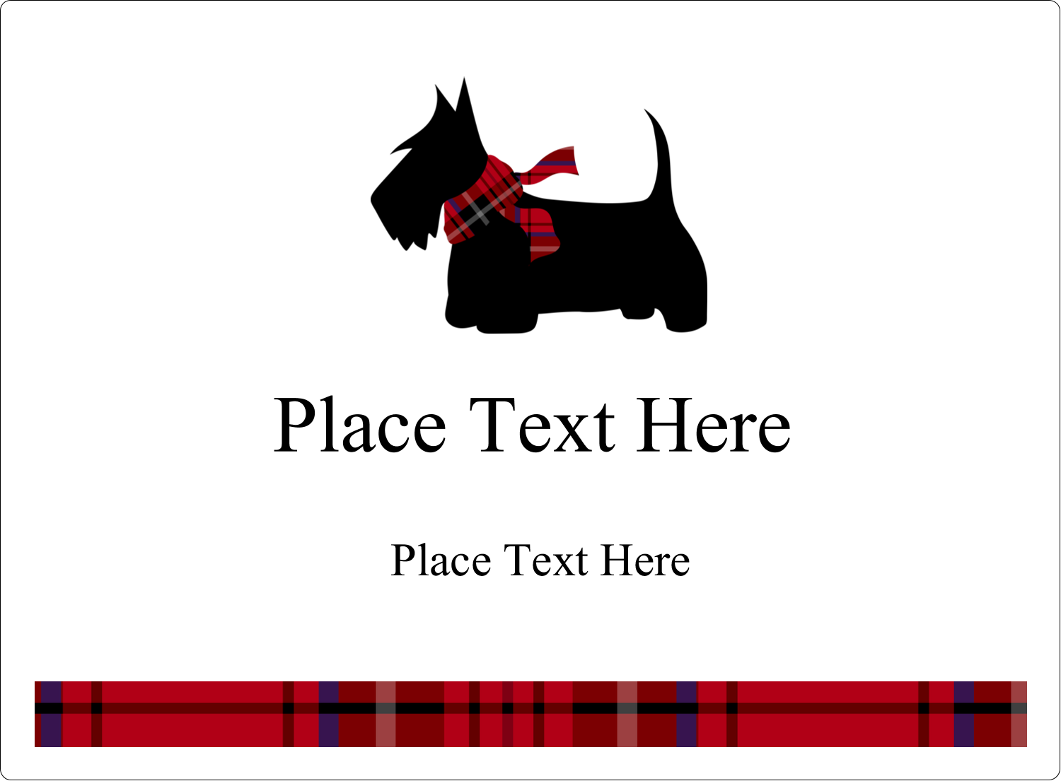 "3½"" x 4¾"" Rectangular Label - Scottie Dog"
