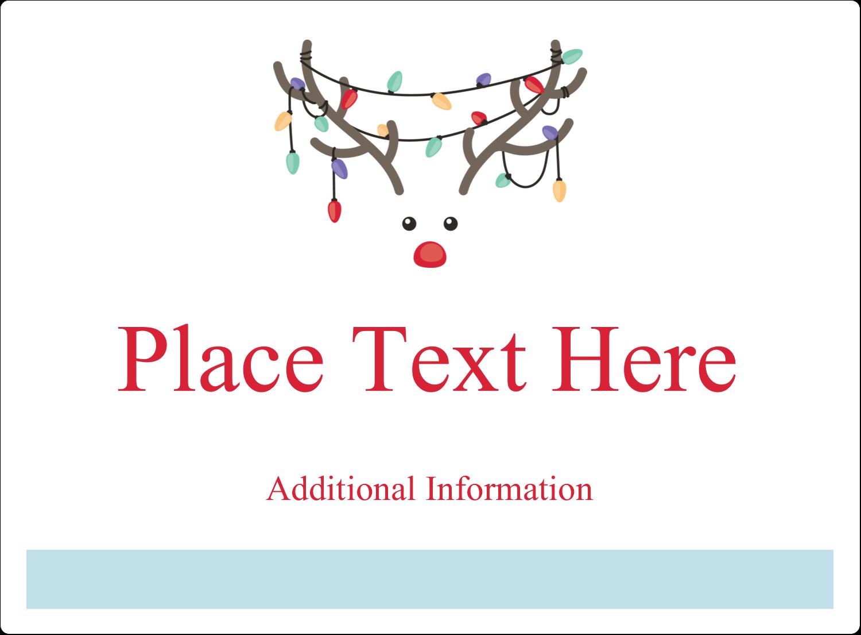 "3½"" x 4¾"" Rectangular Label - Reindeer Antler Lights"
