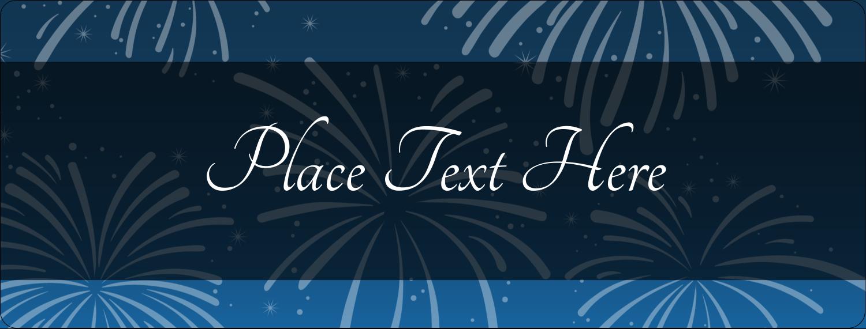 "½"" x 1¾"" Address Label - New Year Blue Fireworks"