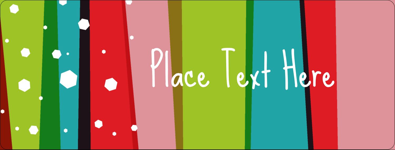 "½"" x 1¾"" Address Label - Christmas Retro Stripe"