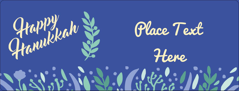 "½"" x 1¾"" Address Label - Hanukkah Floral"