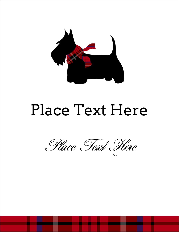 """4¼"""" x 5½"""" Postcard - Scottie Dog"""