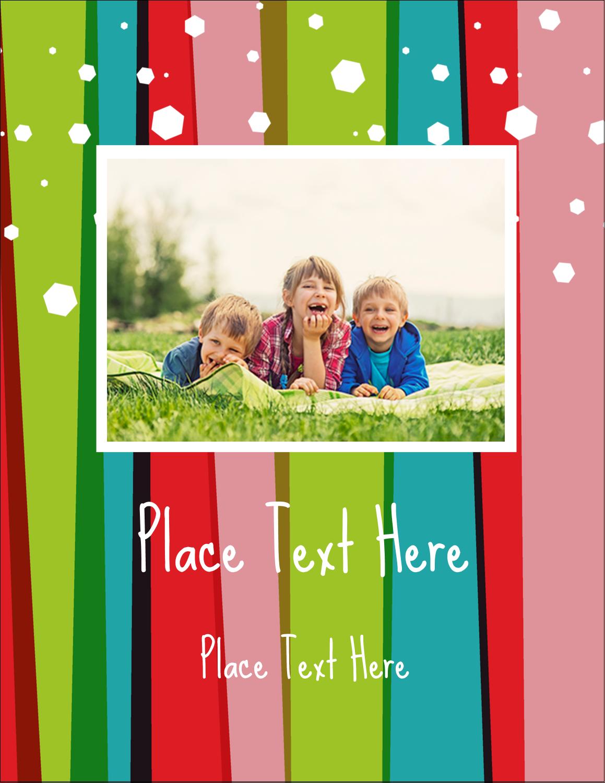 "4¼"" x 5½"" Postcard - Christmas Retro Stripe"