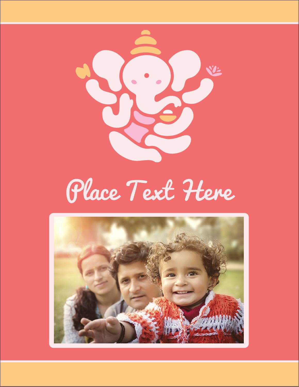 """4¼"""" x 5½"""" Postcard - Diwali Ganesha"""