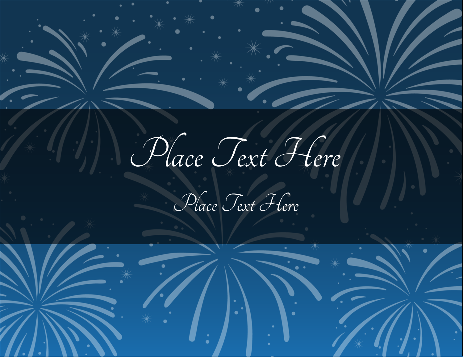 "5½"" x 4¼"" Postcard - New Year Blue Fireworks"