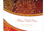 Add a blast of fun to custom projects with pre-designed New Year Red Fireworks templates.
