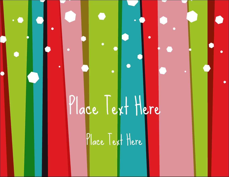 "5½"" x 4¼"" Postcard - Christmas Retro Stripe"