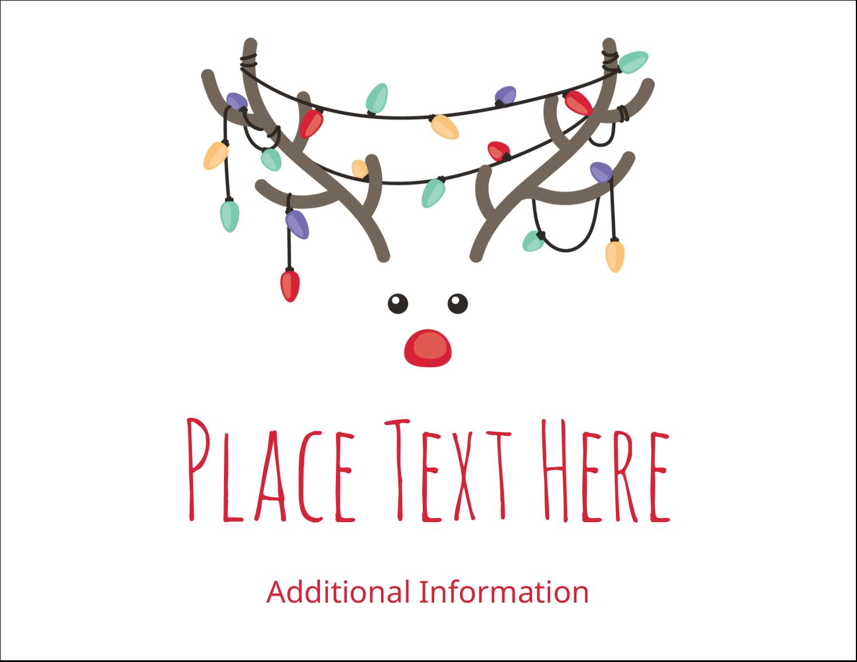 "5½"" x 4¼"" Postcard - Reindeer Antler Lights"
