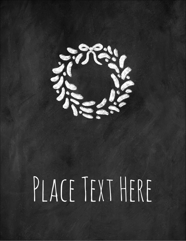 "5½"" x 4¼"" Postcard - Chalkboard Wreath"