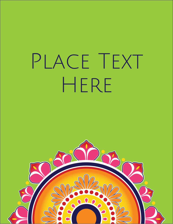"5½"" x 4¼"" Postcard - Diwali Rangoli"