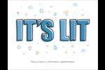 Hanoukka, la fête des Lumières Cartes Et Articles D'Artisanat Imprimables - gabarit prédéfini. <br/>Utilisez notre logiciel Avery Design & Print Online pour personnaliser facilement la conception.