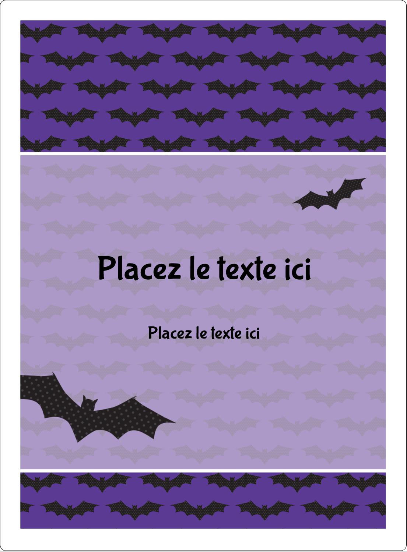 """2½"""" Diameter Étiquettes rondes - Chauves-souris d'Halloween"""