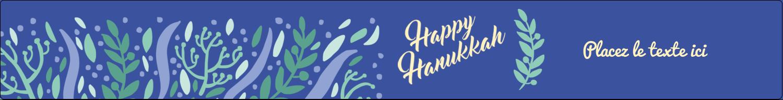 """1½"""" x 2½"""" Étiquettes ovales - Hanoukka florale"""