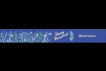 Hanoukka florale Étiquettes ovales - gabarit prédéfini. <br/>Utilisez notre logiciel Avery Design & Print Online pour personnaliser facilement la conception.