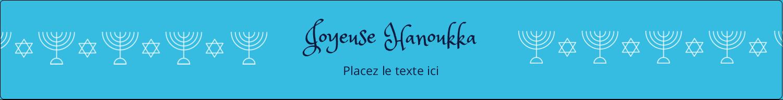 """1½"""" x 2½"""" Étiquettes ovales - Chandelier de Hanoukka"""