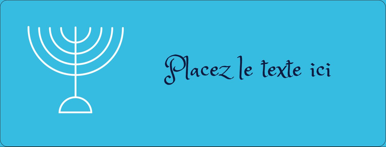 """1"""" x 4"""" Étiquettes D'Adresse - Chandelier de Hanoukka"""