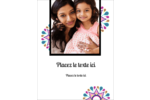 Ruban Divali Carte Postale - gabarit prédéfini. <br/>Utilisez notre logiciel Avery Design & Print Online pour personnaliser facilement la conception.