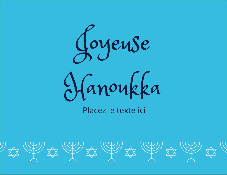 """4¼"""" X 5½"""" Carte Postale - Chandelier de Hanoukka"""