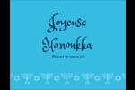 Chandelier de Hanoukka Carte Postale - gabarit prédéfini. <br/>Utilisez notre logiciel Avery Design & Print Online pour personnaliser facilement la conception.