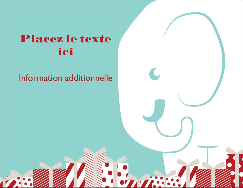 """4¼"""" X 5½"""" Carte Postale - Les gabarits Éléphant blanc pour votre prochain projet des Fêtes"""