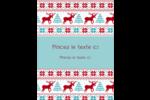 Chandail de poinsettias Carte Postale - gabarit prédéfini. <br/>Utilisez notre logiciel Avery Design & Print Online pour personnaliser facilement la conception.