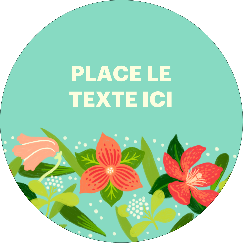 Pleine floraison  Étiquettes rondes - gabarit prédéfini. <br/>Utilisez notre logiciel Avery Design & Print Online pour personnaliser facilement la conception.