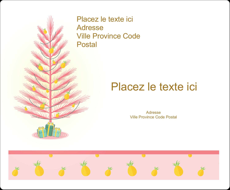 Plant d'ananas tropical Étiquettes d'expédition - gabarit prédéfini. <br/>Utilisez notre logiciel Avery Design & Print Online pour personnaliser facilement la conception.