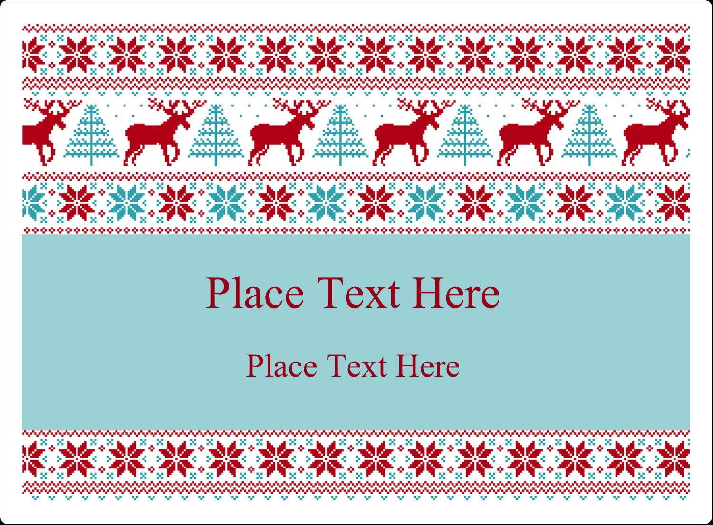 "3½"" x 4¾"" Rectangular Label - Poinsettia Sweater"
