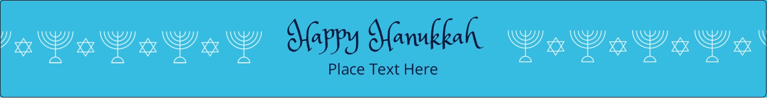 "9¾"" x 1¼"" Wraparound Label - Hanukkah Menorah"